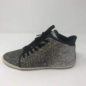 Marc Jacobs Glitter High-top Fashion Sneakers